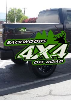 4X4 OFF ROAD BACKWOODS truck decal,gmc,toyota,dodge,ford,chevy