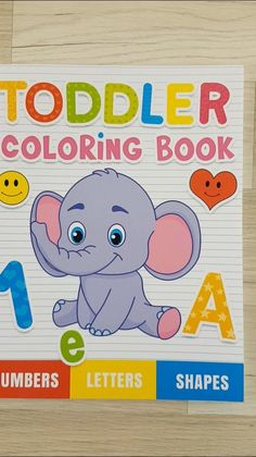 A simple coloring book for young children who start their adventure with discovering the world around them. Simple and easy-to-color letters, numbers 1-10 and simple shapes Toddler Coloring Book, Coloring Pages For Kids, Coloring Books, Infant Activities, Book Activities, Colorful Drawings, Easy Drawings, Alphabet, Toddler Books