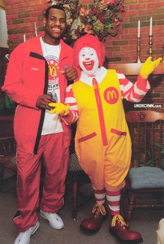 Lebron can dress up like Ronald McDonald, cause he is a clown