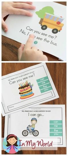 FREE Sight Words Booklets with Reading Comprehension pages Sight Word Booklets, Sight Word Activities, Reading Activities, Literacy Activities, Teaching Reading, Teaching Kids, Kids Learning, Guided Reading, Phonics Reading