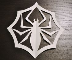 """Jack Skellington cut out spider """"snowflake"""".  Easy pattern from PDF download."""