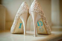 Beautiful something blue on gorgeous shoes!