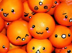 Self - tangerines with faces