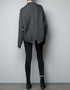 CABLE KNIT SWEATER - Knitwear - Woman - ZARA