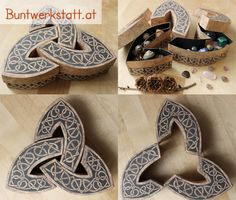 Downloadable pattern for this awesome celtic box! you can make one too! www.buntwerkstatt.at