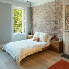 The Sheer Beauty of Brick Tiles Bathroom Ideas You Need to Know - Interior Remodel - Exposed Brick Bathroom – Wall Small Chimney Toilets Subway Tiles Sinks Living Rooms Accent Walls - Brick Wall Bedroom, Brick Accent Walls, Faux Brick Walls, Accent Walls In Living Room, Exposed Brick Walls, Accent Wall Bedroom, Bedroom Decor, Living Rooms, Brick Wall Decor
