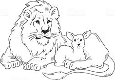 Lion Laying Down Clip Art
