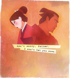Day 3: Favorite Hero. Again it must be two people. Mulan and Shang Both doing it for their father and their country.