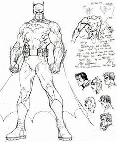 Batman: Hush - character design (2003) by Jim Lee *