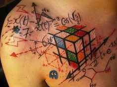 Rubik's Cube Tattoo by Jef Palumbo. From: tat2guru.com/geek-tattoos-gallery-of-geek-tattoo-designs