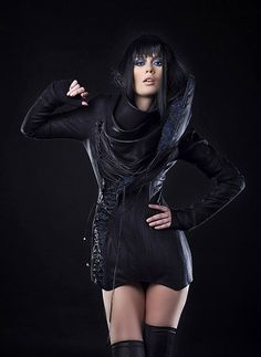 Iva Sokovic Night Sky Jacket - corset body and cascade collar with embedded sky map Conceptual Fashion, Power Dressing, Dark Fashion, Women Wear, Stylists, Post Apocalyptic, Jackets, Fashion Design, Blue