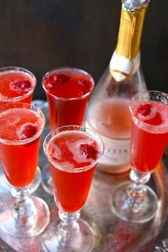 Raspberry Holiday Spritzer great for valentines day!