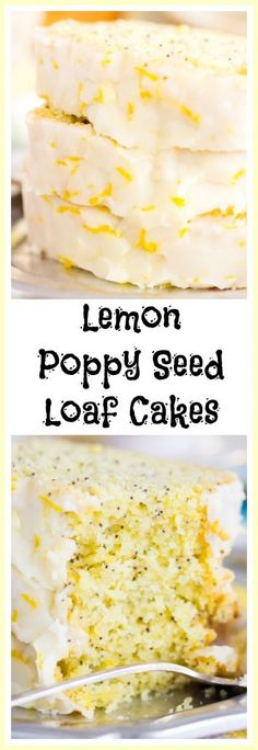 Moist and sticky lemon loaf cakes, crunchy with poppy seeds. Drenched in tangy fresh lemon glaze!