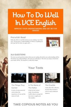 What sort of things are in VCE English?
