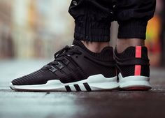 Adidas EQT Support ADV Primeknit - Black/Turbo Red - 2017 (by instabaks) Get yours at: Sneakersnstuff / Overkill / Inflammable / More shops