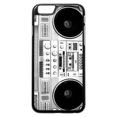 Boombox (silver) iPhone 6 6s Case (€87) ❤ liked on Polyvore featuring accessories and tech accessories