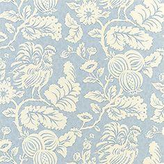 Thibaut Palladio - Rooster - Wallpaper - Blue