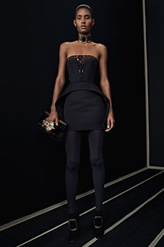 Ready-To-Wear Collection via Designer Olivier Rousteing   Modeled by Ysaunny Brito   January 25, 2016; New York