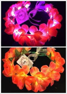 Orange-LED flower crown/floral headband light up by EDMfairy