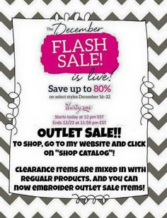 It;s time for a Thirty One flash sale!! Ordering starts NOW and goes until the 22nd. :)  https://www.mythirtyone.com/organize365/