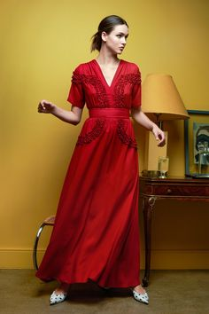 Isa Dress Ruby Red