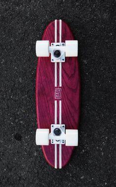 Old school cruiser skateboard handmade in Mexico by CARNICERO BOARDS #design #surf #skate #vintage #local #cruiser #handmade #Oak #oldschool #skate #sk8 #retro #wood #skateboard