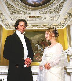Colin Firth (Mr. Dary) & Emilia Fox (Georgiana Darcy) Pride and Prejudice (TV Mini-Series, BBC, 1995) #janeausten