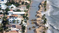 Not far from Trump's Mar-a-Lago resort, one expert after another warned Monday about the dangers that rising sea levels pose to Florida's coast.