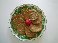 Traditional Danish Christmas brun kager (brown cookies)