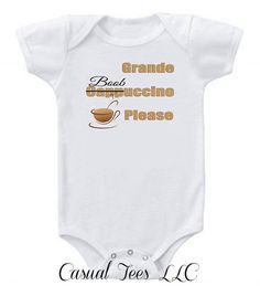 Grande Boobuccino Breast Feeding Funny Baby by CasualTeeCo on Etsy, $14.00