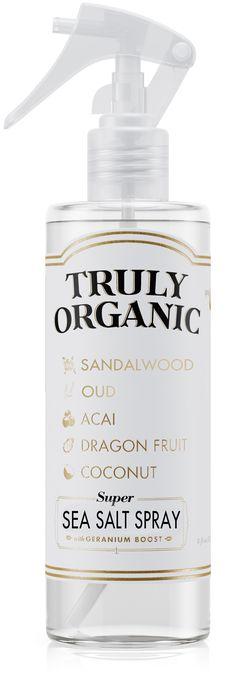 Truly Organic Sea Salt Spray for beach hair Sea Salt Spray, Going Natural, Body Mist, Clean Face, Beach Hair, Rose Water, Air Freshener, Body Care, Coconut