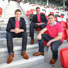 We recently fitted the Ulster rugby squad with   a selection of our Irish brogues.  Here we have Andrew Trimble, Johan Muller and Paddy Jackson pictured at Ravenhill in their new footwear.