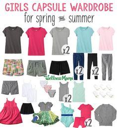 How to Create a Girls' Capsule Wardrobe (Cute