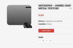 MOUSEPAD - OMBRE GRAY METAL TEXTURE  #MOUSEPAD - #OMBRE #GRAY #METAL #TEXTURE  #grabyourdesign
