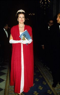 Princess Grace of Monaco at Gala for the restoration of the Castle of Versailles on 28 Nov 1973