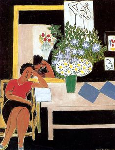 Matisse The Red Table - (Table's not red.) http://www.henrimatisse.org/henri-matisse-painting-gallery3.jsp