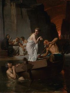 """Eugène Ernest Hillemacher: """"Psyche into hell"""", 1865,  National Gallery of Victoria, Melbourne.  -- Wikipedia"""