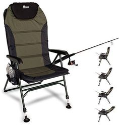 Chairs and Seats 19985: Earth Products Ultimate Outdoor Adjustable Fishing Chair With Adjustable Legs -> BUY IT NOW ONLY: $125 on eBay!