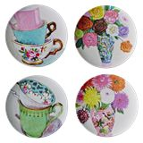 Melamine Dinner Plate with Andrea Rose Print