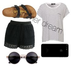 """""""Summer Dream"""" by arkatonic on Polyvore featuring Chicwish and Birkenstock"""