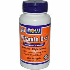 NOW Vitamin D3 1000IU in Canada from $5.47   Free Shipping over $49 Natural source...not synthetic