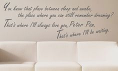 so maybe not as a wall decal...but it is unreal how much i love peter pan and have since birth.