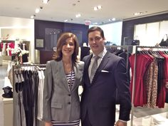 """I got the pleasure of assisting Nancy Pender, former Fox News' anchor and reporter, shopping for her upcoming appearances on the Starz show, """"Boss""""."""