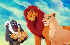 Simba and nala with rafiki and kiara. Simba E Nala, Kiara Lion King, Lion King 1, Lion King Movie, Disney Lion King, Le Roi Lion Film, King Drawing, Deer Drawing, He Lives In You