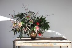 an unexpected holiday arrangement from sophia moreno-bunge | gardenista
