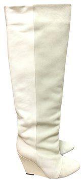 Isabel Marant Suede Prescott White Ivory Boots