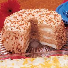 Angel Food Delight Delicious Cake Recipes, Yummy Cakes, Sweet Recipes, Yummy Food, Quick Recipes, Cooking Recipes, Angle Food Cake Recipes, Dessert Recipes, Frosting Recipes
