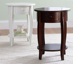Sleigh Side Table #PotteryBarnKids   For the Master as Nightstands? And still maybe for the nursery :)