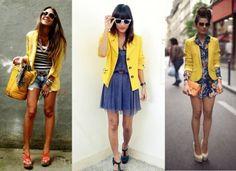 Yellow Blazer Street Style