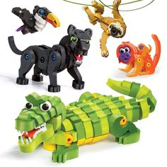 Bloco Toys Tropical Rainforest Animals | STEM Toy | Panther, Caiman, Sloth, Tamarin and Toucan | DIY Educational Building Construction Set (220 Pieces) >>> Check out the image by visiting the link. (This is an affiliate link)